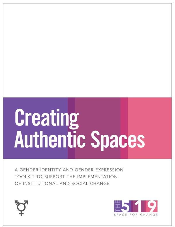 Creating Authentic Spaces Cover page in white with pink and purple band and title text.