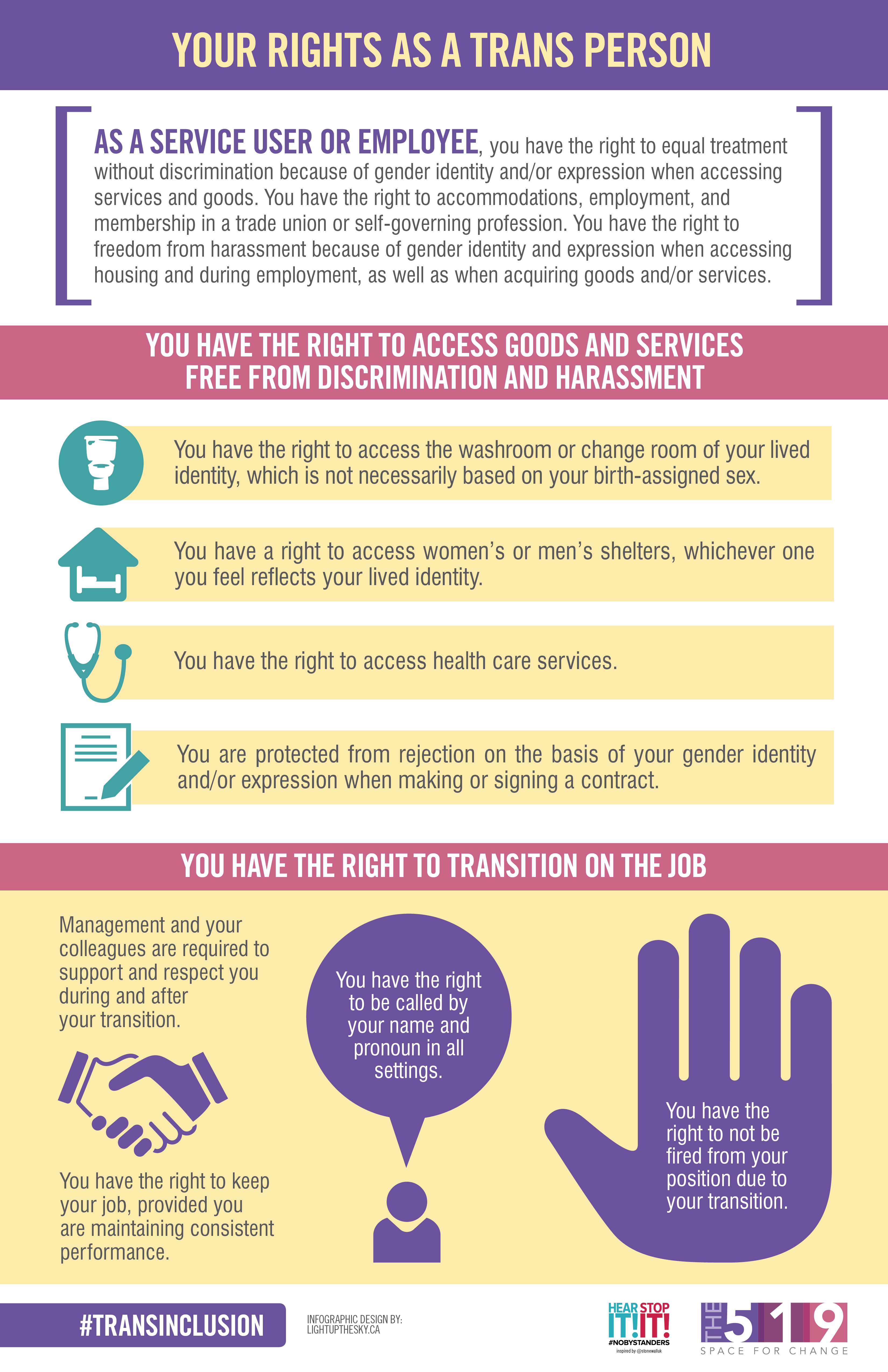Info Sheet: Your rights as a trans person