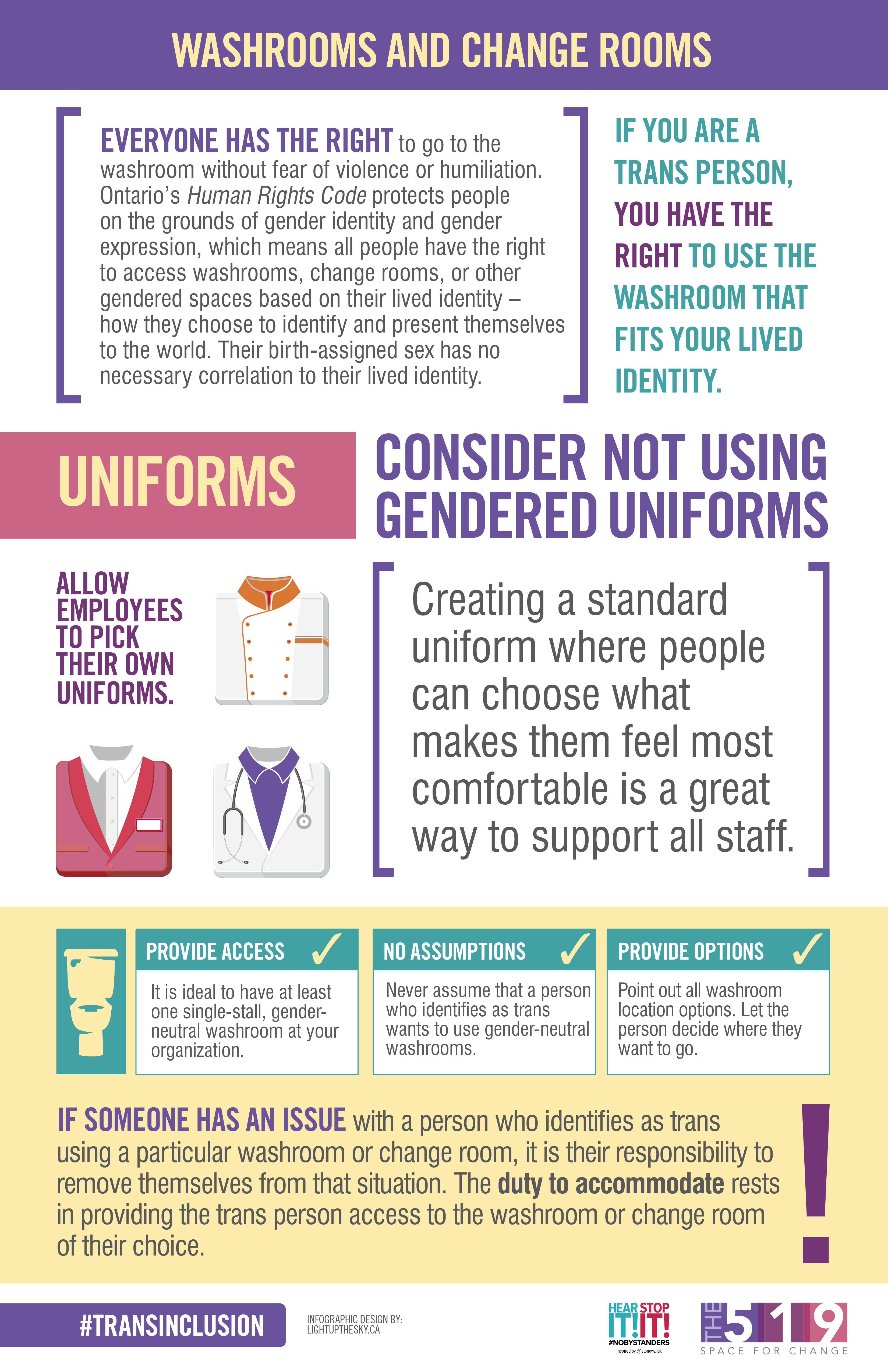 Info Sheet: Washrooms and Change Rooms